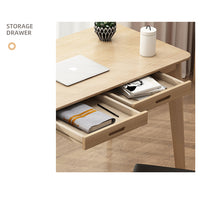 Load image into Gallery viewer, Maple 120cm Workstation Office Computer Desk Study Table Home Storage Drawers Wooden