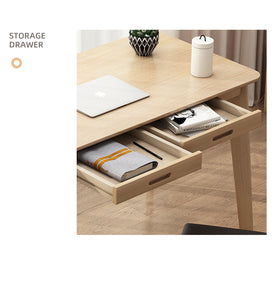 Maple 120cm Workstation Office Computer Desk Study Table Home Storage Drawers Wooden