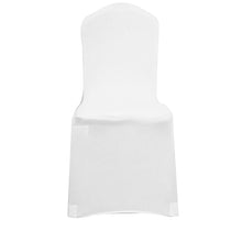 Load image into Gallery viewer, White Black Chair Cover Spandex Lycra Folding Banquet Wedding Party Covers Banquet