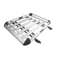 Load image into Gallery viewer, 140*100 Silver Double Aluminium Alloy SUV 4x4 Roof Rack Basket Cargo Luggage Carrier Box