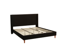 Load image into Gallery viewer, King Size Bed Frame Fabric Bedroom Furniture Wooden Base Black- BF960