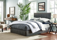 Load image into Gallery viewer, Gas Lift Double Size Bed Frame Fabric Bedroom Furniture Wooden Base Storage Grey -BF971