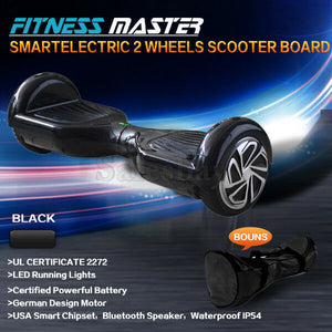 6.5inch and 8.5inch Aluminium Wheel Self Balancing Hoverboard Electric Scooter Bluetooth Speaker LED Lights Waterproof Hover Board
