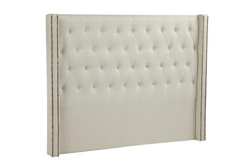 Double Size Bed Head Headboard Bedhead Fabric Frame Base Cream