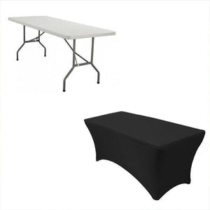 Tablecloths Rectangle Spandex Lycra Table Cloth 6 Ft Wedding Party Table Cover