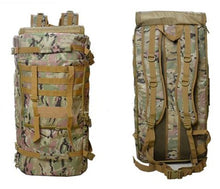 Load image into Gallery viewer, Hiking 55L Outdoor Rucksack Tactical Military Backpack Shoulder Sport Canvas Bag