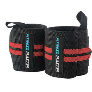 Weight Lifting Gym Training Gloves Wrist Support Wrap Straps Grip Bar
