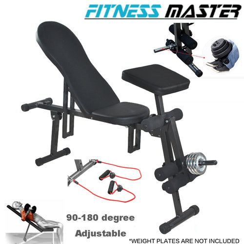 Sit Up Abdominal Crunch Adjustable Flat Incline Bench Fitness GYM Home lifting