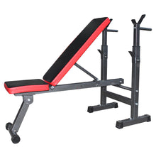 Load image into Gallery viewer, Adjustable Benches Rack Barbell Rack Weightlifting Bed Foldable Press GYM