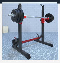 Load image into Gallery viewer, Fitness Equipment Home Barbell Rack Muscle Exercises Weight lifting Adjustable Height Squat Rack- (No Barbells & bars)