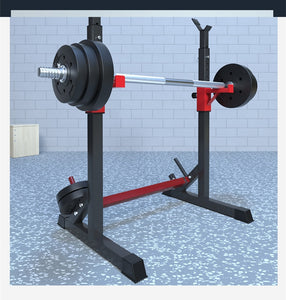 Fitness Equipment Home Barbell Rack Muscle Exercises Weight lifting Adjustable Height Squat Rack- (No Barbells & bars)