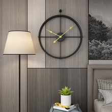 Load image into Gallery viewer, Large 52cm Large Huge Wrought Iron Wall Clock Art Deco Metal Office Hanging