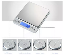 Load image into Gallery viewer, 0.01-500g Coffee Electronic Kitchen Scale Weight Weighing Scales Batteries Postal
