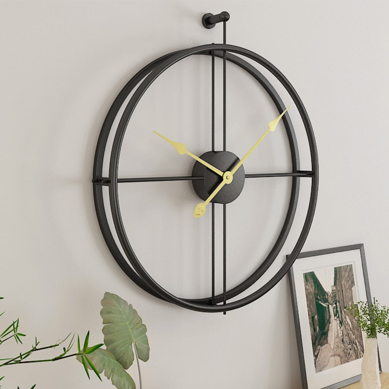Large 52cm Large Huge Wrought Iron Wall Clock Art Deco Metal Office Hanging