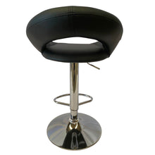 Load image into Gallery viewer, 2x Kitchen Bar Stools Gas Lift Stool Chairs Swivel Barstools PU Leather Black