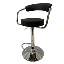 Load image into Gallery viewer, 2x Black Kitchen Bar Stools Gas Lift Stool Chairs Swivel Barstools PU Leather