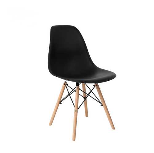 8x Replica Retro Dining Chairs Cafe Kitchen Beech (Black Colour)