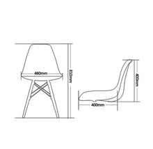 Load image into Gallery viewer, 4x Replica Retro Dining Chairs Cafe Kitchen Beech (White Colour)