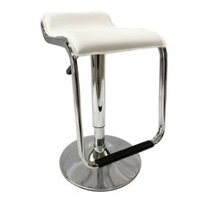 Load image into Gallery viewer, 2x White Kitchen Bar Stools Gas Lift Stool Chairs Swivel PU Leather Barstools