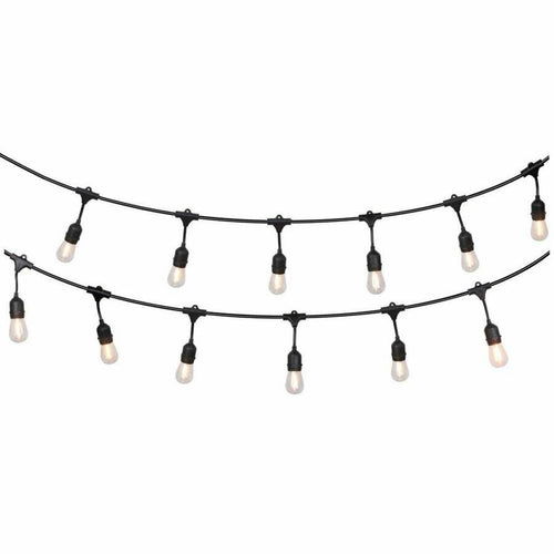40m Festoon String Lights LED Dropdown Light Xmas Wedding Party Waterproof Outdoor