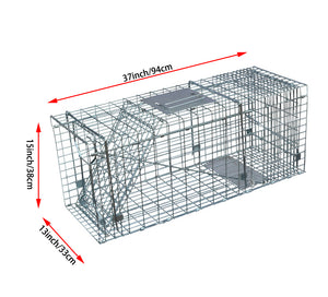 15inch Foldable Live Animal Trap Possum Feral Cat Rabbit Bird Animal Dog Hare Fox Cage Live Humane Catch