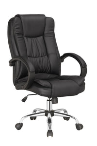 Office Chair PU Leather Computer Gaming Executive Racer Chairs Gas Lift Seat Black