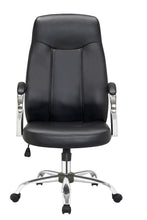 Load image into Gallery viewer, Black Office Chair PU Leather Computer Gaming Executive Racer Chairs Gas Lift Seat