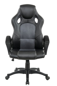 Grey Color Executive Gaming Chair Office Computer Seating Racer Recliner Chairs