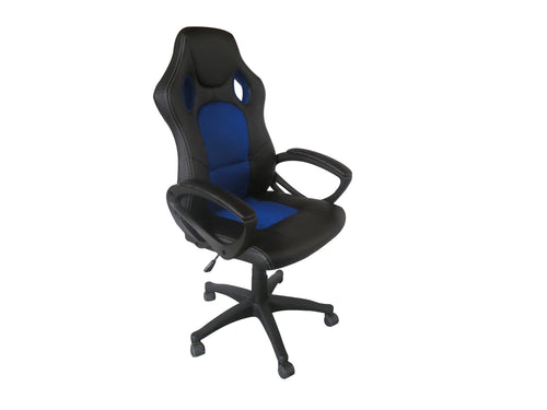 Blue Color Executive Gaming Chair Office Computer Seating Racer Recliner Chairs