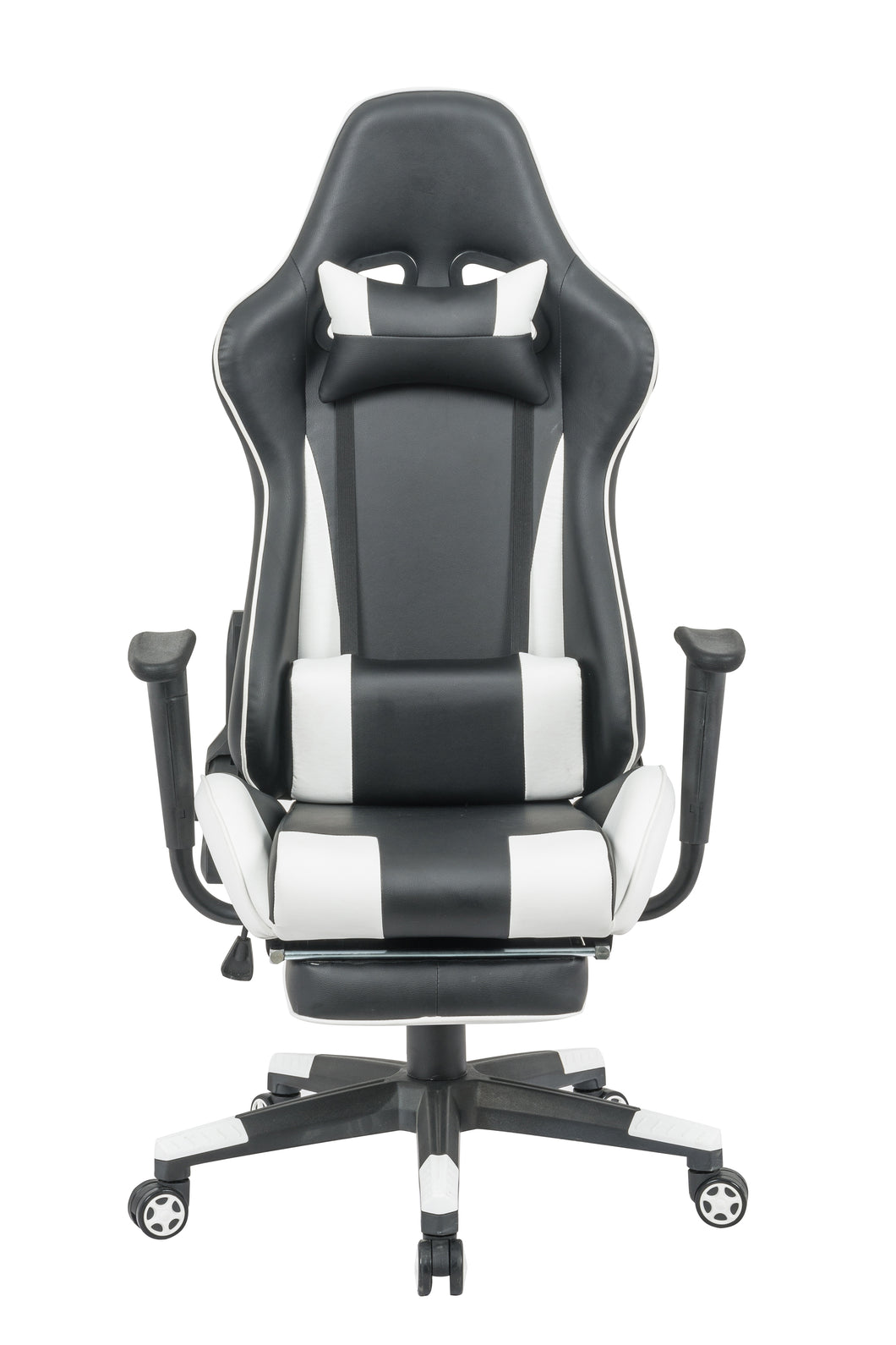 Grey Color High Back Executive Gaming Chair w Footrest Office Computer Seating Racer Recliner Chairs
