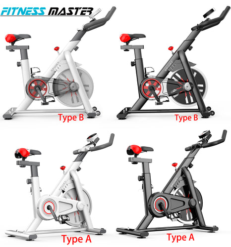 Exercise Spin Bike Flywheel Fitness Commercial Home Gym Black/White Unique Design