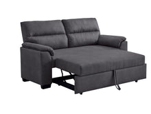 Load image into Gallery viewer, Black 2 Seater Sofa Bed Fabric Lounge Futon Couch Modular Furniture Home 171cm