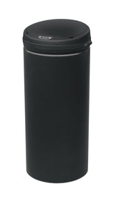 Sensor Bin 50L Black Stainless Steel Rubbish Bins Motion Automatic