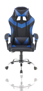 Blue Color High Back Executive Gaming Chair Office Computer Seating Racer Recliner Chairs