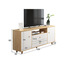 120cm Modern TV Stand Cabinet Wood Entertainment Unit Drawer Storage Maple