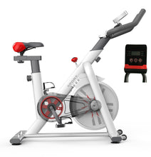 Load image into Gallery viewer, White Exercise Spin Bike Flywheel Fitness Home Gym Unique Design
