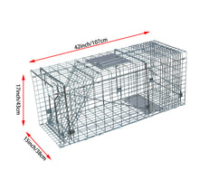 Load image into Gallery viewer, 17inch Foldable Live Animal Trap Possum Feral Cat Rabbit Bird Animal Dog Hare Fox Cage Live Humane Catch