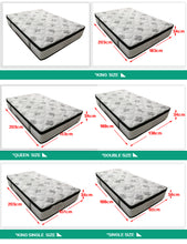 Load image into Gallery viewer, 34CM Euro Top Pocket Spring Medium Firm Foam Mattress KING QUEEN DOUBLE SINGLE