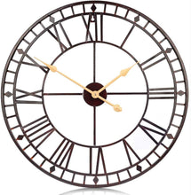 Load image into Gallery viewer, 80cm Wall Clock European Creative Iron Round Non-fading Living Room Silense
