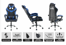 Load image into Gallery viewer, Blue Color High Back Executive Gaming Chair Office Computer Seating Racer Recliner Chairs