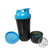 Load image into Gallery viewer, 5X 3in1 GYM Protein Supplement Drink Blender Mixer Shaker Shake Ball Bottle Cup