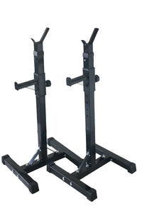 2x Squat Rack Stand Bench Press Weight Lifting Barbell Upto 200KG Home Gym