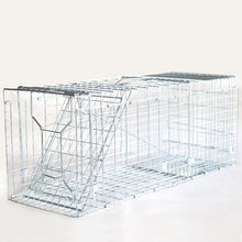 Load image into Gallery viewer, 10inch Foldable Live Animal Trap Possum Feral Cat Rabbit Bird Animal Dog Hare Fox Cage  Humane Catch