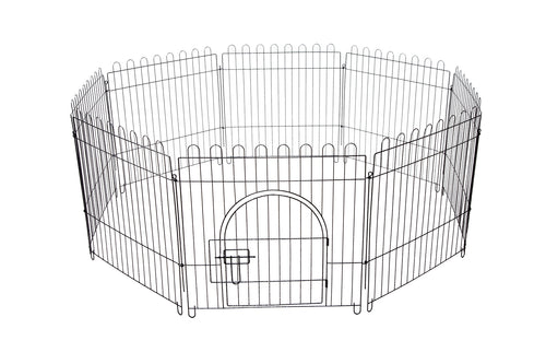 8 Panel Pet Playpen Fold Exercise Cage Fence Enclosure Dog Puppy