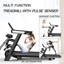 Load image into Gallery viewer, Multi-functional Electric Treadmill Pulse Sensor Fitness Home Gym Massage Sit Up