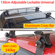 Load image into Gallery viewer, 130cm Cross Bar Universal Lockable Aluminium Car Roof Rack Adjustable  Alloy Sedan Ute Luggage Carrier