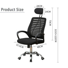 Load image into Gallery viewer, High Back Black Executive Mesh Breathable Home Office Game Chair Computer Swivel Lift