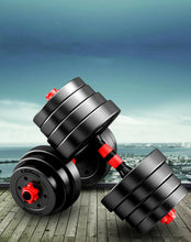 Load image into Gallery viewer, 30kg Adjustable Dumbbell Set Barbell Home GYM Exercise Weights Fitness