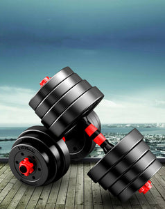 40kg Adjustable Dumbbell Set Barbell Home GYM Exercise Weights Fitness