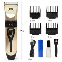 Load image into Gallery viewer, Rechargeable Electric Pet Clipper Dog Cat Hair Trimmer Fur Shaver Kit Cordless